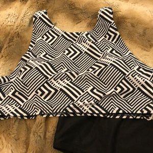 Cupshe Swim - Cupshe High waisted Geometric Bikini XL